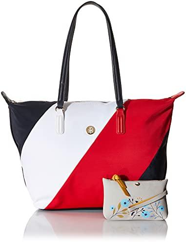 Tommy Hilfiger Damen Handtasche Tasche Shopper Poppy Tote Soft Nylon Mehrfarbig