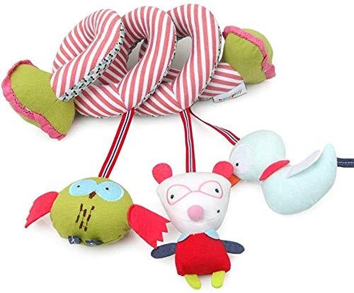 Juguetes de cochecito de bebé, baby rattles cuna cochecito de juguete para bebés actividad de dibujos animados Cuna que cuelga de juguete toets tatueses juguetes juguetes de espiral infantil juguetes
