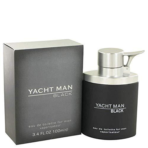 Myrurgia Yacht Man Black by Eau De Toilette Spray 3.4 oz/100 ML (Men)