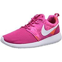 Nike Roshe Run Print - Zapatillas para Mujer, Color Pink (Fireberry/White-Pink Powder-Total Orange), Talla 36.5