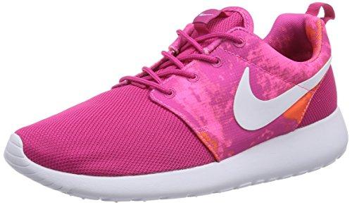 Nike Roshe Run Print, Scarpe da Ginnastica Donna, Rosa(Pink (Fireberry/White-Pink Powder-Total Orange), 36.5 EU