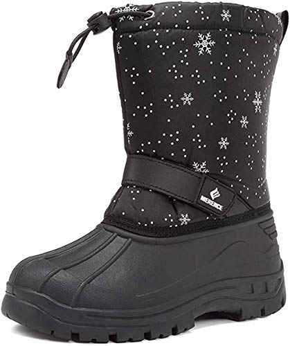 DREAM PAIRS Little Kid Nordic Grey Pink Ankle Winter Snow Boots Size 13 M US Little Kid