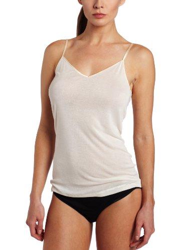 Hanro Damen Pure Silk Unterhemd, Elfenbein (pale cream ), 36/38 (Herstellergröße: XS)
