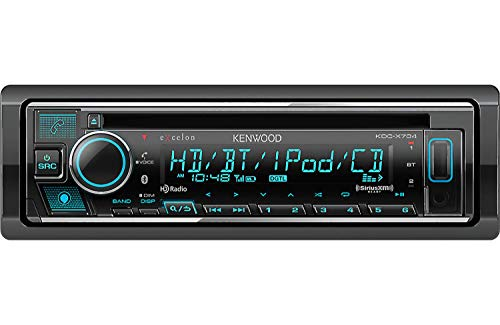 Kenwood Excelon KDC-X704 Single DIN Bluetooth Car Stereo CD Receiver with Amazon Alexa Voice Control