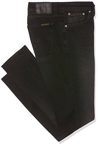 Nudie Jeans Herren / Damen Jeans Skinny Lin, Schwarz (Black Habit), W28/L30 (Herstellergröße: L30W28)