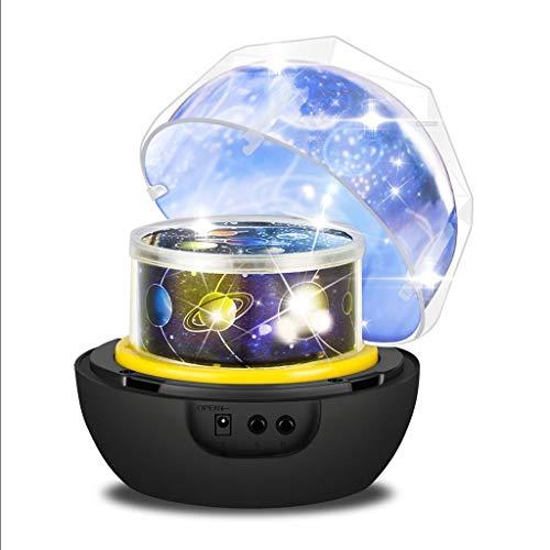 Diamant tournant Cosmos et projecteur étoile avec 3 Modes et Motifs modifiables pour Chambre d'enfants Veilleuses-projecteurs 0701