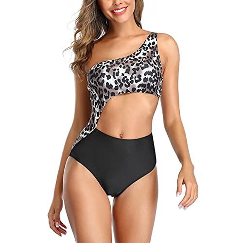 YWZQ Mujer de una Pieza Traje de baño Moda Mujer Sexy Bikini Halter Deportes triángulo Traje de baño Verano Playa Traje de baño Tankini,Negro,XL
