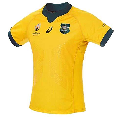 2019 Japan Weltmeisterschaft Rugby Trikot Australian Team Kurzarm Sport Shirt T-Shirt Fan Version American Kleidung Ohne Falten Polyesterfaser Gr. 56, Homecourt