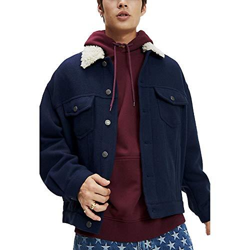 Tommy Hilfiger TJM Wool Trucker Jacket Chaqueta, Azul (Black Iris Cbk), XX-Large para Hombre