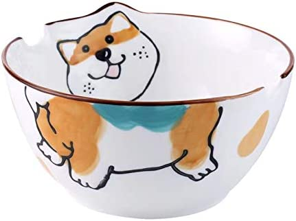 Dailydanny Excellence Japanese Ceramic Ramen Bowl Save money Dog Cute with