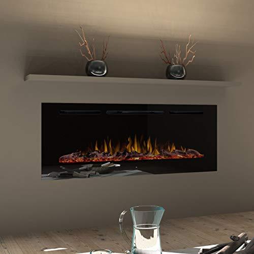 """Noble Flame Paris 920 (92 cm/36 """") - Chimenea Eléctrica Chimenea de Pared Estufa Chimenea - Montaje en Pared Mando a Distancia - 14,5 cm Profundidad - - Negro"""