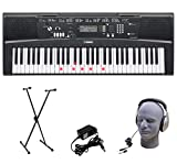 Yamaha EZ-220 61-Lighted Key Portable Keyboard Package with Headphones, Stand and Power Supply (Renewed)