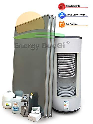 Thermo-Set für Wasserspeicher, Heizung und Herstellung von Warmwasser, 3-4 Personen, Thermoacumulo, 300 Liter