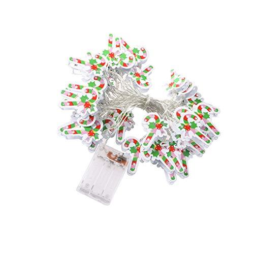 Cordão de luzes de Natal PretyzOOM 20 LEDS alimentadas por bateria para uso interno e externo, festa de Natal, Ano Novo, decoração de jardim (3M), Colorido., 450x4cm