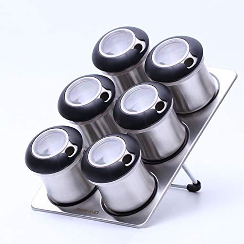 LYMUP 304 acero inoxidable conjunto cocina hogar condimento, acero inoxidable base sólido cruet