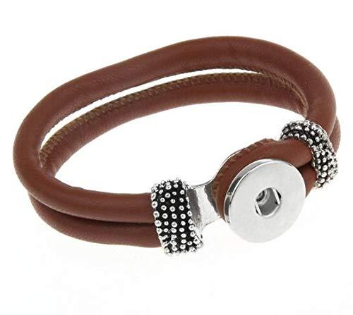 RQWY Armband Hot Snap Bracelet & Bangles Hochwertige Lederarmbänder Fit 18mm DIY Snaps Button Schmuck