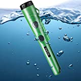 Pinpoint Metal Detector Pinpointer Waterproof - 2019 Fully Waterproof Design Metal detectors for Adults and Kids Green with Belt Holster