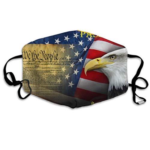 Patriotische Symbole USA Amerika Mundabdeckung Mundabdeckung Staubschutz