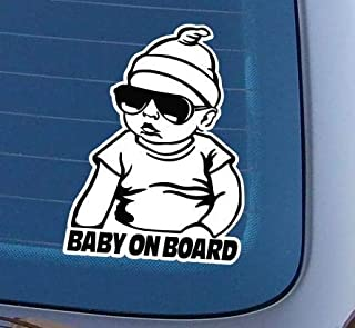 topdesignshop Baby on Board Aufkleber Cooler Heckscheiben Auto Babyaufkleber Junge cool Hangover Carlos an Bord