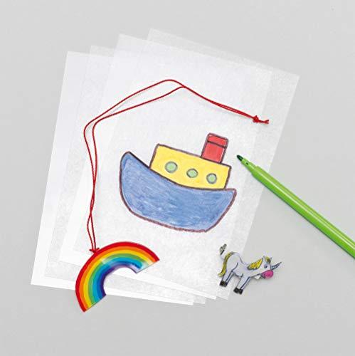 Lot de 10 Feuilles de Plastique Rétrécissant à colorier - Loisirs créatifs magique AF105