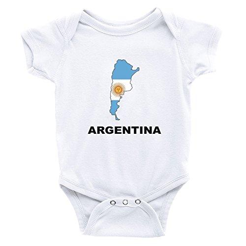 Teeburon Argentina Country Map Color Body de bebé