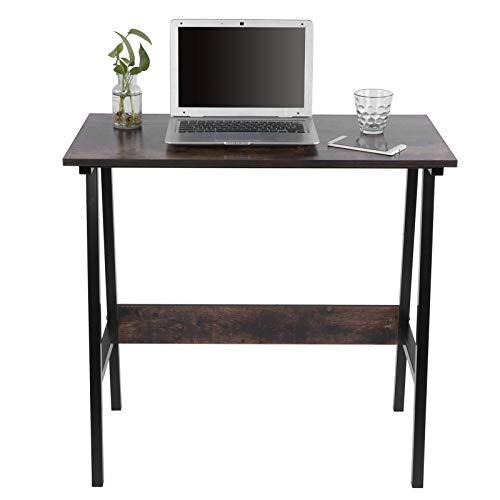 Ausla Escritorio para ordenador para oficina o estudio, 40 x 80 x 76 cm, escritorio de oficina de MDF, escritorio para estudiantes, capacidad de carga 80 kg, marrón