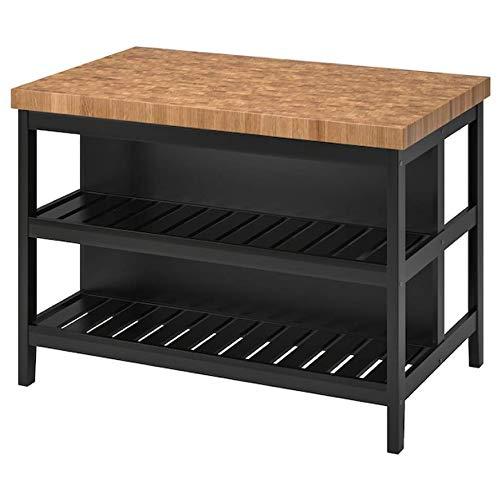 Ikea Vadholma Kitchen Island Black Oak 49 5/8×31 1/8×35 3/8 203.591.54