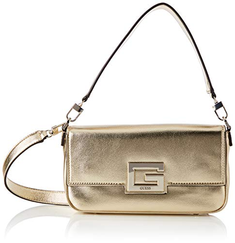 Guess Brightside Shoulder Bag, BAGS CROSSBODY para Mujer, dorado, Talla única