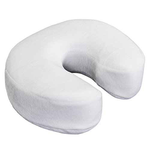 EARTHLITE Massage Face Cradle Cushion MEMORY FOAM - Massage Table & Massage Chair Headrest Pillow w/ Washable Fleece Cover