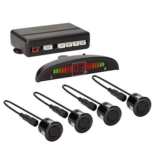 VSG® Premium Einparkhilfe mit Farb-Display und eingebauten Pieper inklusiv 4 Sensoren in schwarz für hinten