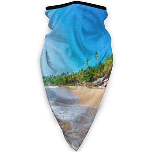 Calentador De Cuello Tropical Beach Palm Tree Sea Ocean Warmer Invierno Hombres Mujeres Regalos Al Aire Libre Impreso Navidad Multifuncional Deportes Hermosos Sombreros Ciclismo C