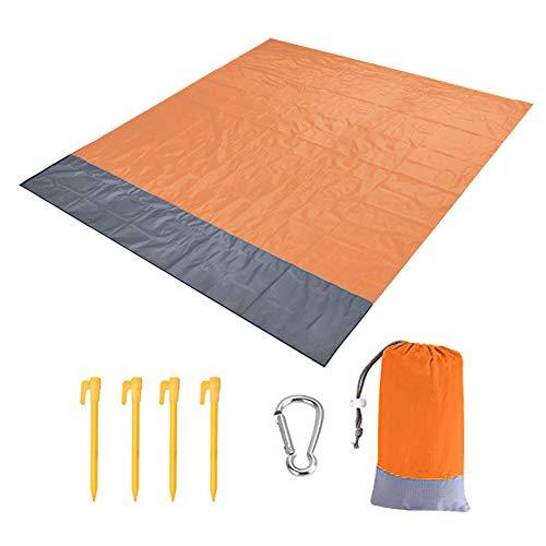 Estera de picnic al aire libre impermeable plegable alfombra de camping manta de playa para jardín al aire libre parque hierba viajes senderismo (200 x 210 cm)