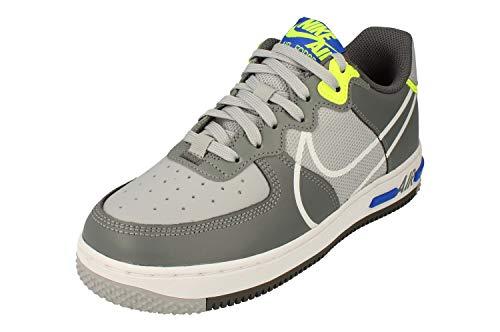 Nike AIR Force 1 React (GS), Chaussure de Basketball, Wolf Grey White Smoke Grey Dark Grey, 37.5 EU