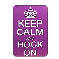 Calm Rock On メタルポスター壁画ショップ看板ショップ看板表示板金属板ブリキ看板情報防水装飾レストラン日本食料品店カフェ旅行用品誕生日新年クリスマスパーティーギフト