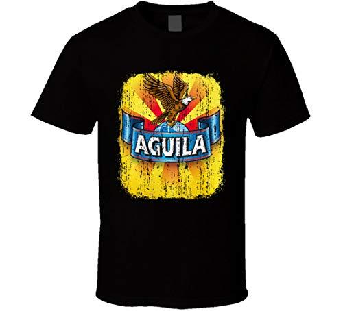 N/Y Cerveza Aguila lateinamerikanisches cooles Bier Drink Worn Look T-Shirt schwarz Gr. 56, Schwarz