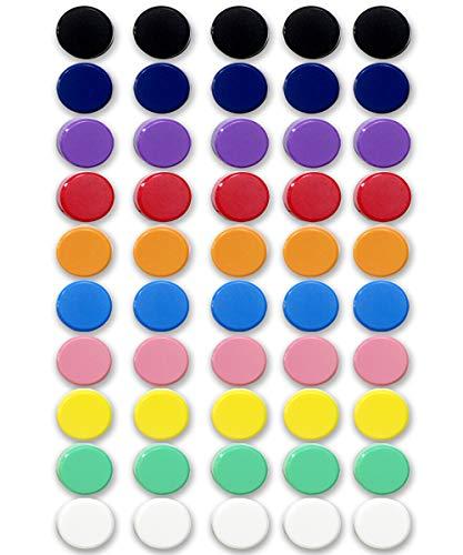 Qualsen Office Magnets 50 Pack, Heavy Duty Round Refrigerator Whiteboard Locker Magnets (Plain)