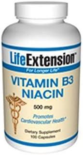 Life Extension Vitamin B3 Niacin   500 mg 100 Capsules (Multi-Pack)