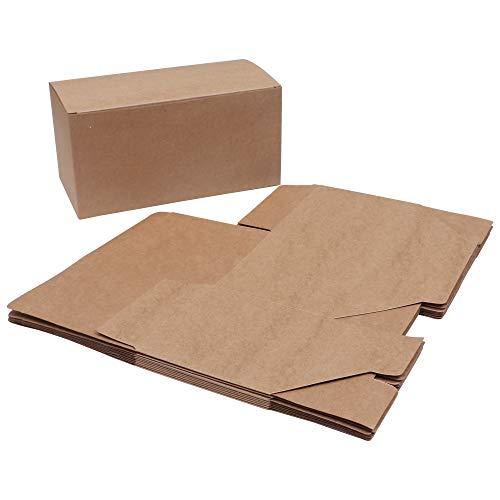 Geschenkboxen (20-er Pack) - (23x11,5x11,5cm) Kraft Papier Geschenkbox Set - Vintage Geschenkbox für Party, Hochzeit, Kekse, Schokolade, Schmuck und Geschenke (Braun)