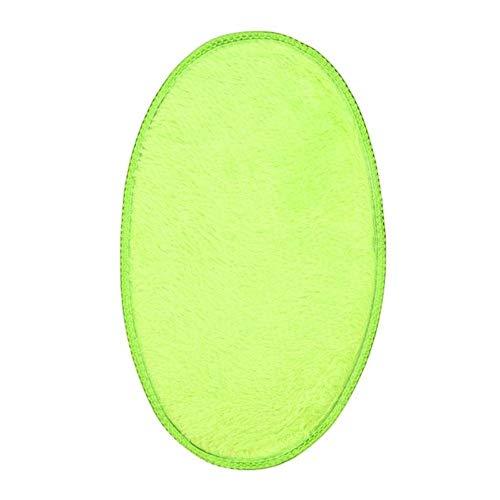 30 x 50 cm suave absorbente esponja de felpa para dormitorio, baño, baño, ducha, suelo de la puerta, alfombra antideslizante ovalada 40p