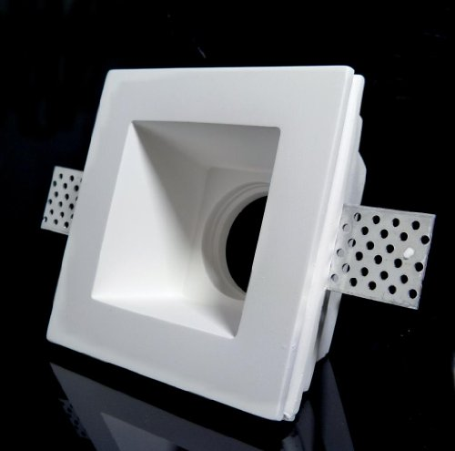 GQDTL-2007 Support carré encastrable en plâtre pour spots GU10 et GU5.3