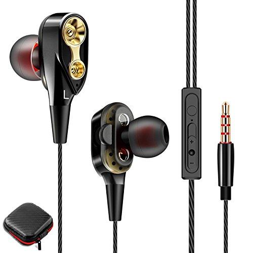 Audífonos con Cable,CoWalkers controladores dinámicos duales Auriculares con cancelación de ruido,…