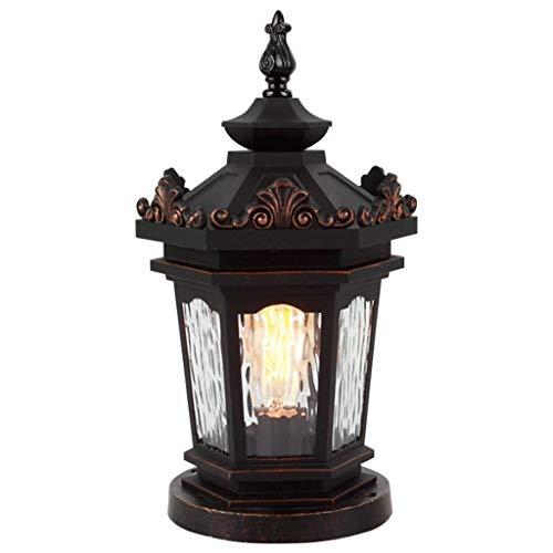 SJYDQ Luces de jardín Luces de Pilar Impermeables al Aire Libre Luces de Pared Luces de Paisaje Luces de Pared Luces de Pared de Villa de jardín Luces de Poste