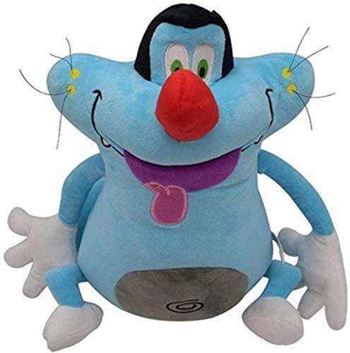 DINEGG Gefüllte Plüschspielzeug Oggy und die Kakerlaken Plüschtierkatze-Katze-Oggy-gefüllte Cartoon-Tierpuppe für Kinder-Geburtstag 37cm YMMSTORY