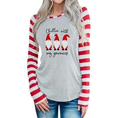 Amazon - Save 40%: MYHALF Chillin with My Gnomies T-Shirt Women Gnomies Graphic Shirt Ca…