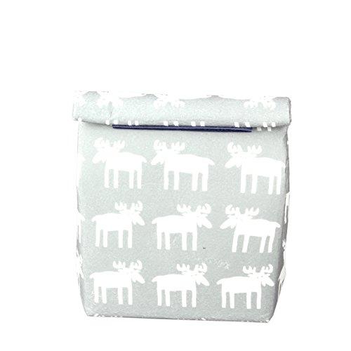 Yvonnelee Lunch-Tasche, Kühltasche Thermotasche isolierte Lunch Cooler Tasche Lunchbag Isoliertasche mit Klettverschluss-Grau