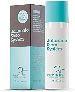 PURAVIDA BIO - Jaluronio System Serum - Filling and protective function - Moisturizing, anti-aging with a tensor effect - 100% natural perfume - Nickel tested - Paraben free - Dermatologically tested
