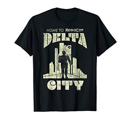 RoboCop Delta City Home To RoboCop Silhouette T-Shirt
