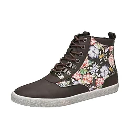 Zapatillas de Senderismo para Mujer Tejidas Ligeras y elásticas Transpirables para Caminar a la Moda, cómodas Zapatillas Deportivas Mary Jane (M31_Multicolor,37)
