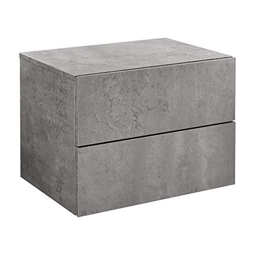 [en.casa] Wandplank met laden 40x29x30 cm betonlook