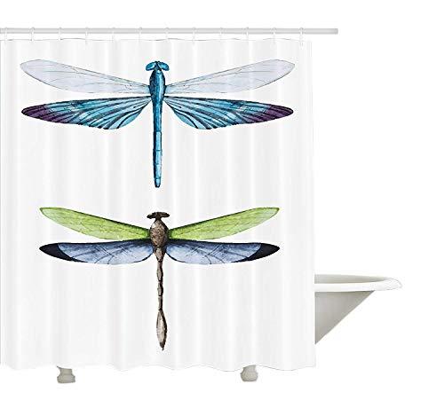 cortinas baño libelulas